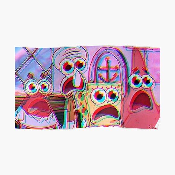 trippy spongebob Poster