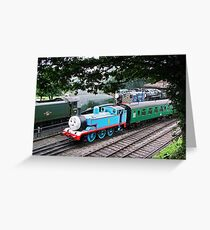 Thomas Leaves the Station  Greeting Card