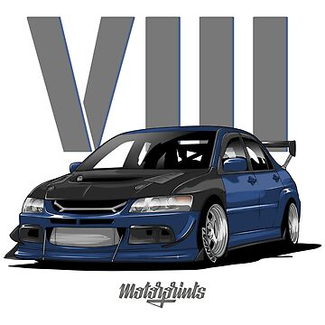 EVO VIII (blue) by MotorPrints