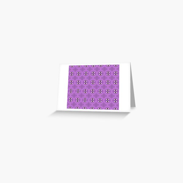 elegant curling fern, old fashioned rose pattern on purple Greeting Card