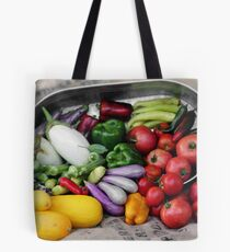 Garden Veggies Overflowing Tote Bag