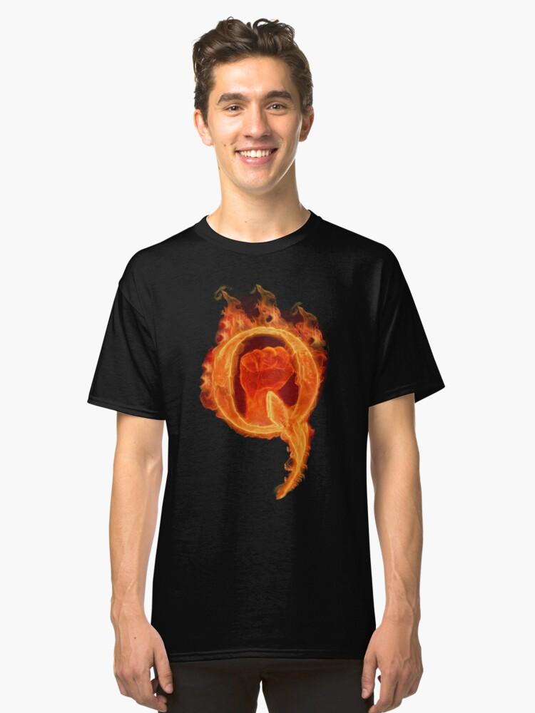 Solidarity Combustion Q  Classic T-Shirt Front