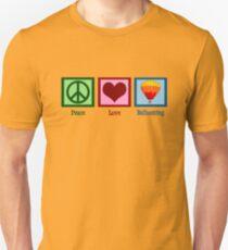 Peace Love Ballooning   Hot Air Balloon Unisex T-Shirt