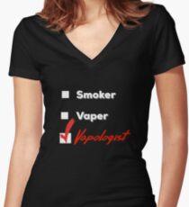 Funny Vapologist Vaper Vaping Vape  Women's Fitted V-Neck T-Shirt