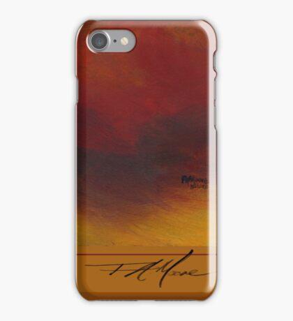 Minimum Red. FA Moore Signature design, in Pumpkin iPhone Case/Skin