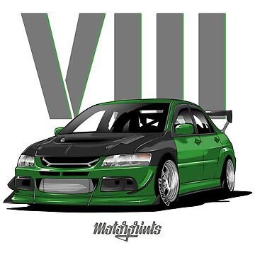 EVO VIII (green) by MotorPrints