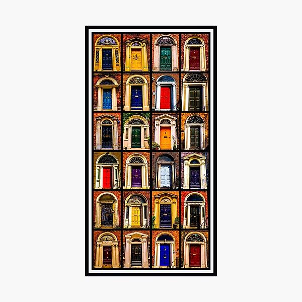 Georgian Doors of Dublin Collage #2 Photographic Print