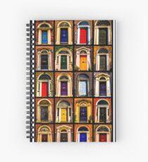 Georgian Doors of Dublin Collage #2 Spiral Notebook