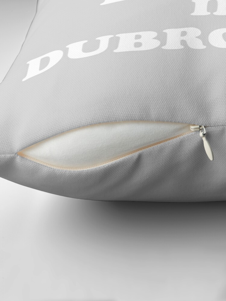 Alternate view of It's always better in Dubrovnik Throw Pillow