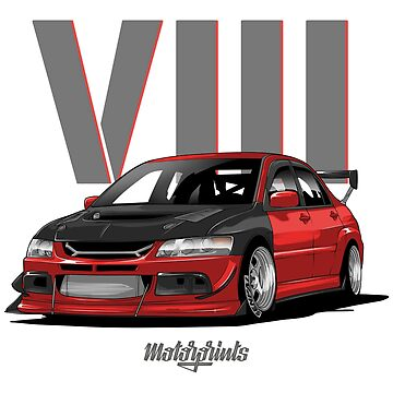 EVO VIII (red) by MotorPrints