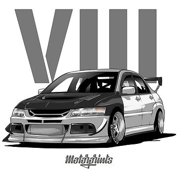 EVO VIII (white) by MotorPrints