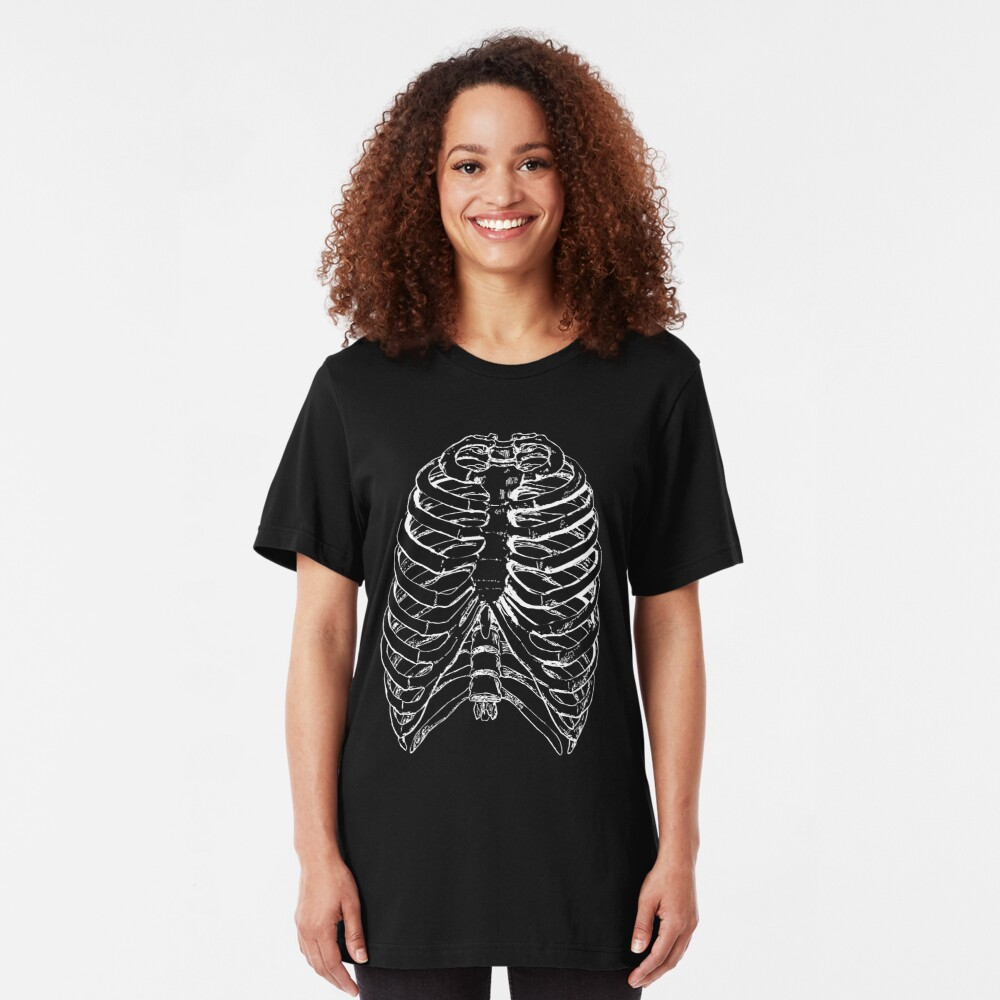 Skeleton Rib Cage Slim Fit T-Shirt