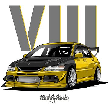 EVO VIII (yellow) by MotorPrints