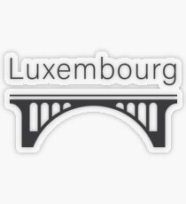 Luxembourg Landmark Adolphe Bridge Transparent Sticker