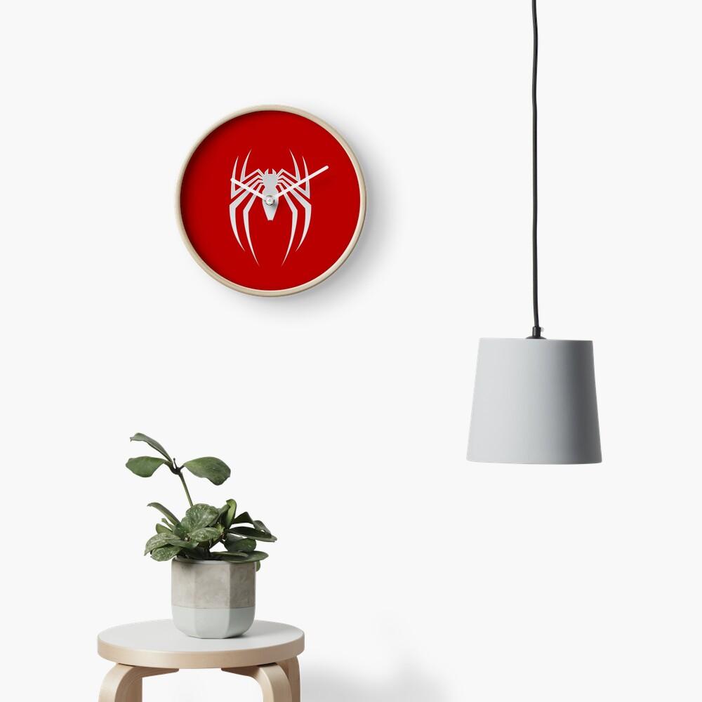 White Spider Clock
