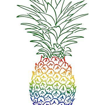 LGBT Gay Pineapple by Sleazoid