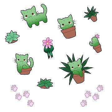 Cactus Cat by CCWolfie