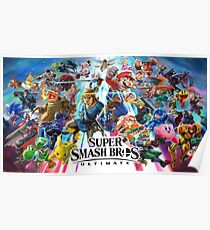Smash Bros Ultimate High Quality Poster