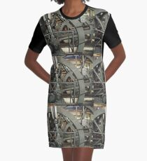 SteamPunk, #SteamPunk,  #science #fiction, science #fantasy,  #ScienceFiction, #ScienceFantasy, #anachronistic #technologies, #retro-futuristic  Graphic T-Shirt Dress