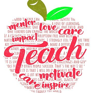 'Apple of Words' Cute Kindergarten Teacher Gift by leyogi