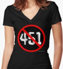 NO 451! Women's Fitted V-Neck T-Shirt