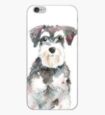 Vinilo o funda para iPhone Ilustración de acuarela de perro Schnauzer miniatura