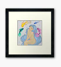 Color fishes Framed Print