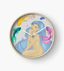 Color fishes Clock