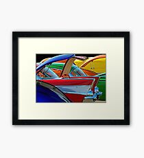 Back To The Car Show. Framed Print