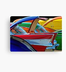 Back To The Car Show. Canvas Print