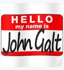 Hallo mein Name ist John Galt Poster