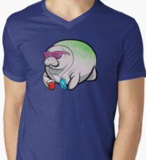 Party Manatee V-Neck T-Shirt