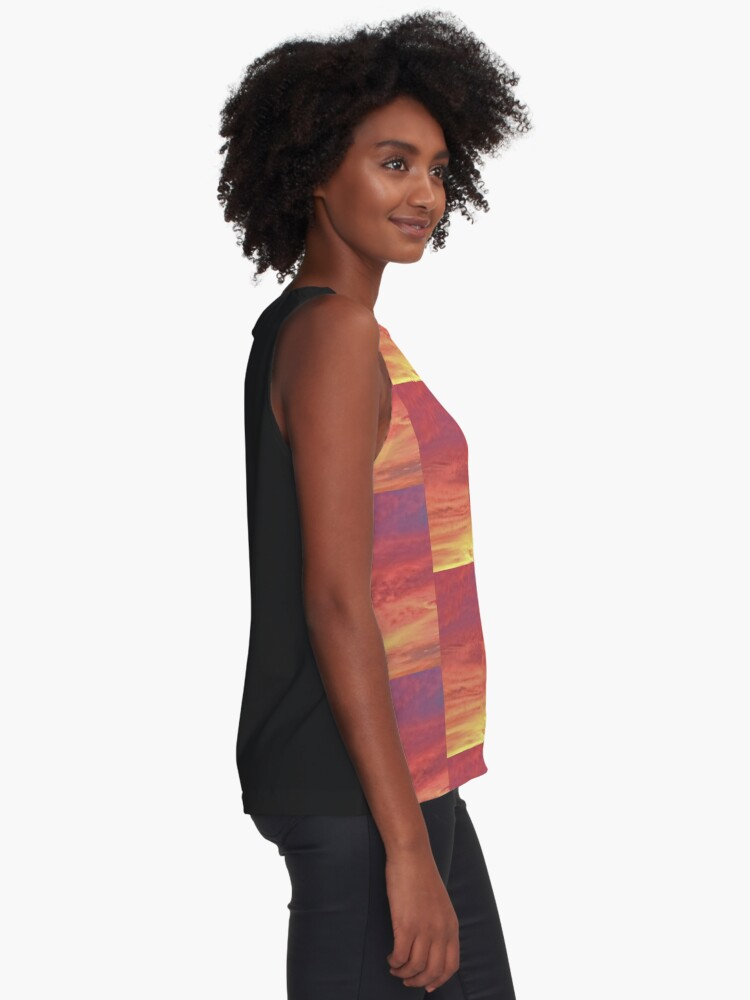 Alternate view of Sunset Colors and Clouds of Heaven Sleeveless Top