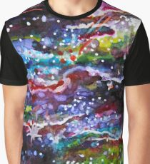 Galaxy - Watercolour Design Graphic T-Shirt