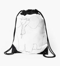 danimal's bestiary: elephant Drawstring Bag