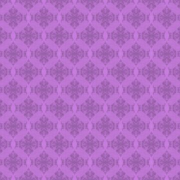 elegant curling fern damask pattern on purple by DlmtleArt