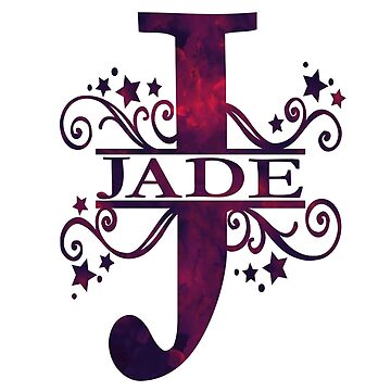 Jade | Girls Name and Monogram in Dark Purple by PraiseQuotes