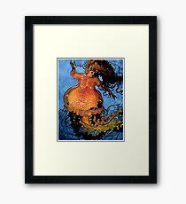 Jellyfish Mermaid Framed Print