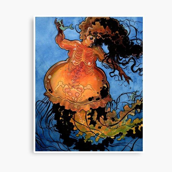 Jellyfish Mermaid Canvas Print