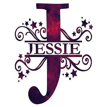 Jessie | Girls Name and Monogram in Dark Purple by PraiseQuotes