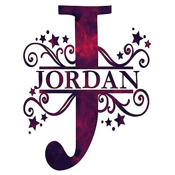 Jordan | Girls Name and Monogram in Dark Purple by PraiseQuotes