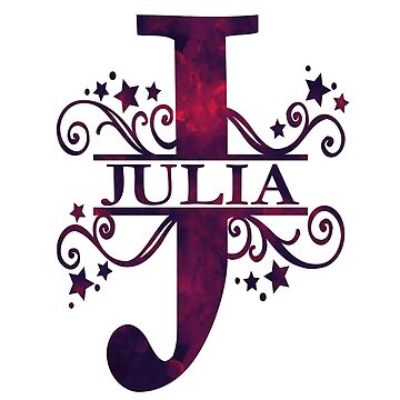 Julia | Girls Name and Monogram in Dark Purple by PraiseQuotes
