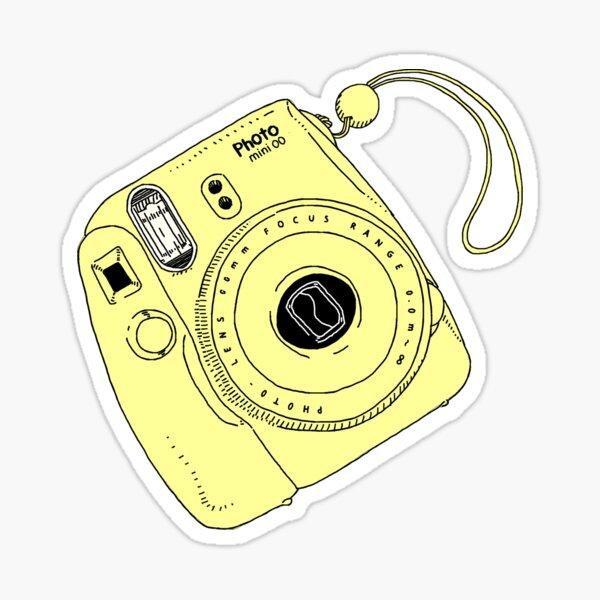 instant - butter yellow Sticker