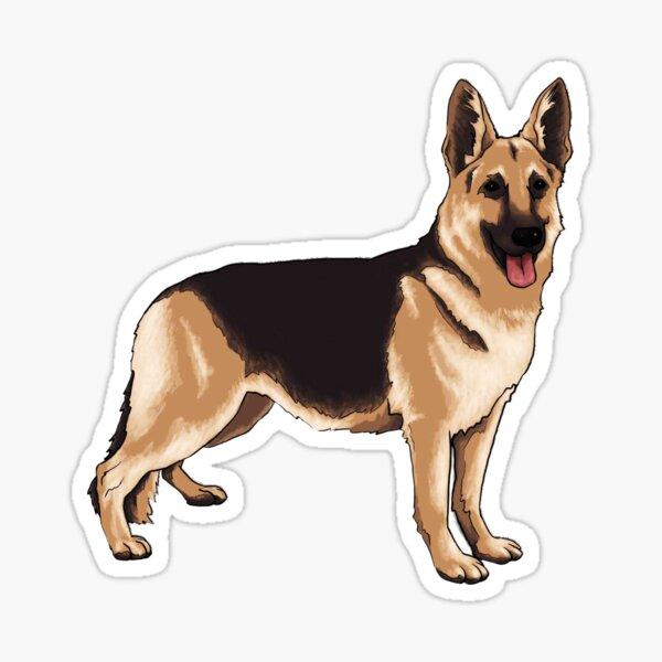 German shepherd dog Sticker