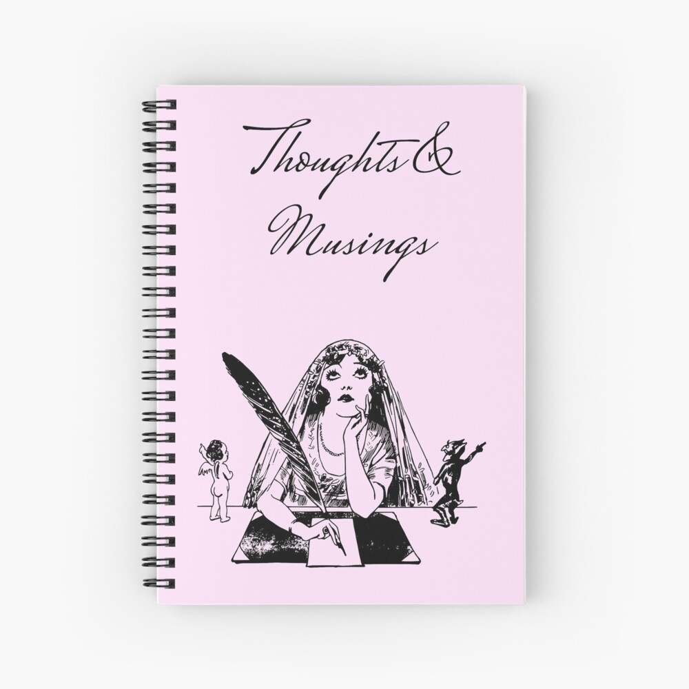 Thoughts and Musings Vintage Style Journal Spiral Notebook