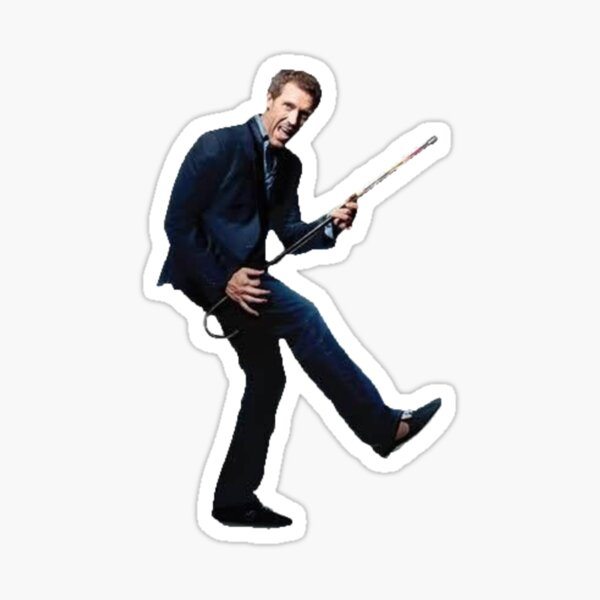 Dr House Rocking Out Sticker