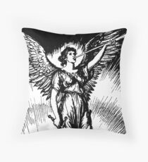 Angel and Slain Skeleton Throw Pillow