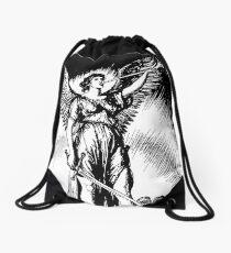 Angel and Slain Skeleton Drawstring Bag