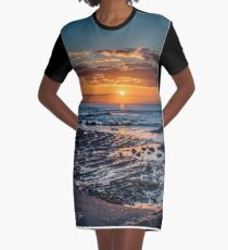 Sunrise over the ocean Graphic T-Shirt Dress