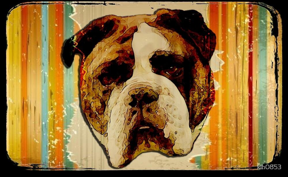 English Bulldog Grunge by klh0853